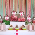 Glamourous Pink and Green Dessert Table