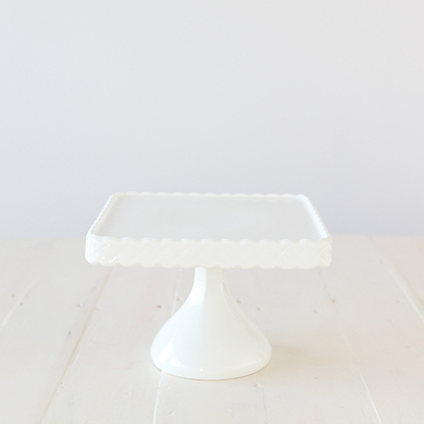 Bon Bon Square Cake Stand &#8211; White