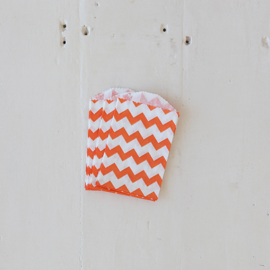Chevron Bitty Bags – Orange