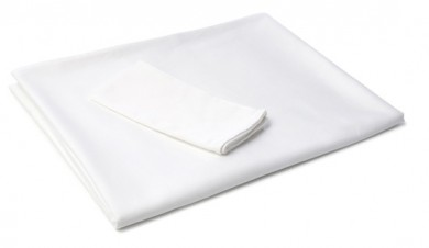 White Restaurant Quality Tablecloth – 150cm x 230cm