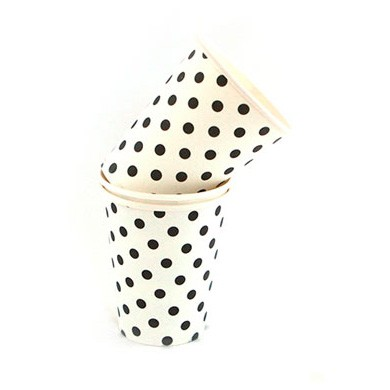 Cups – Sambellina Polkadot Black on White