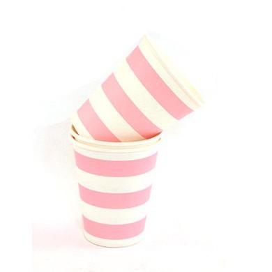 Cups – Sambellina Candy Stripe Pink
