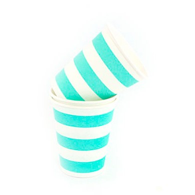Cups – Sambellina Candy Stripe Blue
