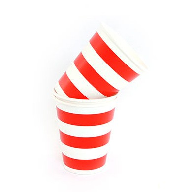 Cups – Sambellina Candy Stripe Red