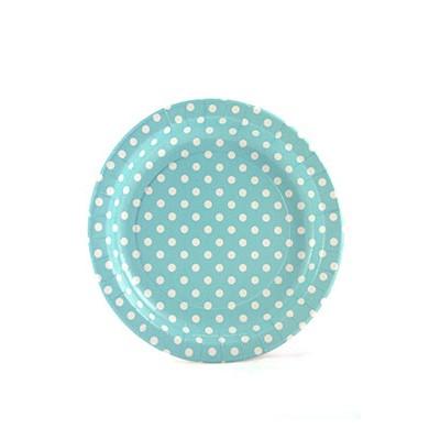 Sambellina Plates – Polkadot Blue