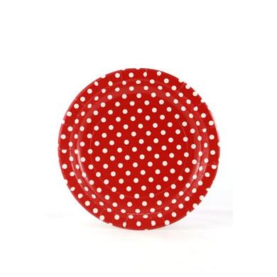 Sambellina Plates – Polkadot Red