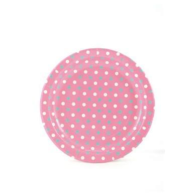 Sambellina Plates – Polkadot Multi Pink