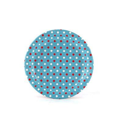 Sambellina Plates – Polkadot Multi Blue