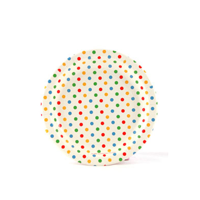 Sambellina Plates &#8211; Polkadot Multi Coloured