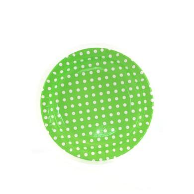 Sambellina Plates – Polkadot Lime