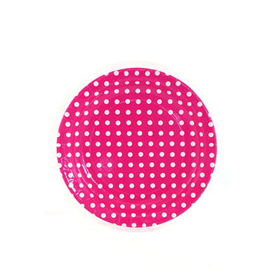Sambellina Plates &#8211; Polkadot Raspberry Pink