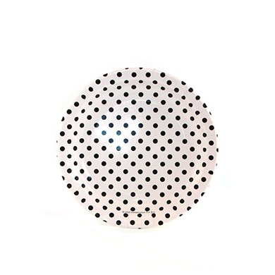 Sambellina Plates – Polkadot Black on White