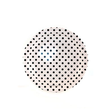 Sambellina Plates &#8211; Polkadot Black on White