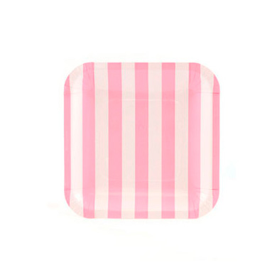 Sambellina Plates &#8211; Candy Stripe Pink