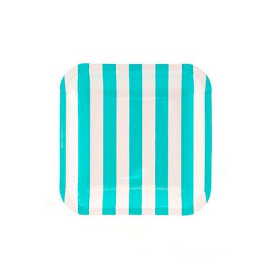 Sambellina Plates – Candy Stripe Blue