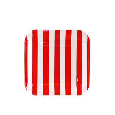 Sambellina Plates &#8211; Candy Stripe Red