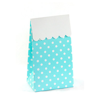 Treat Box &#8211; Blue Polkadot