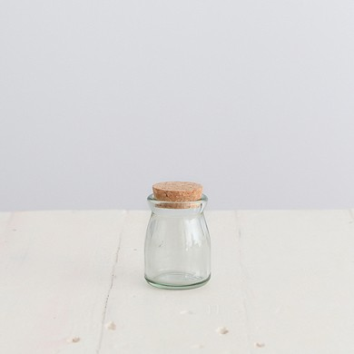 Glass Mini Pot with cork lid