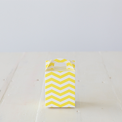 Chevron Tote Favour Box &#8211; Yellow