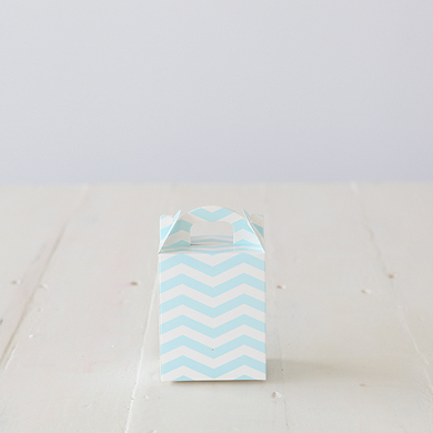 Chevron Tote Favour Box &#8211; Blue
