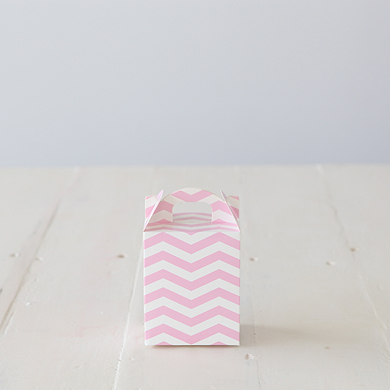Chevron Tote Favour Boxes &#8211; Pink