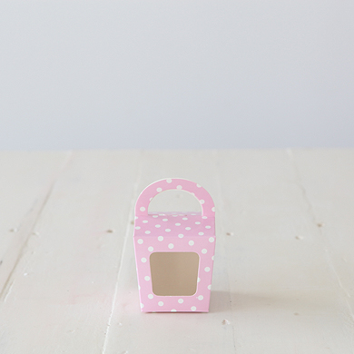 Cupcake Candy Favour Box &#8211; Pink Spot