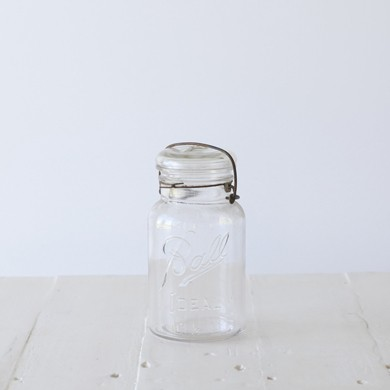 Ball Mason Jar with Glass Lid &#8211; Clear