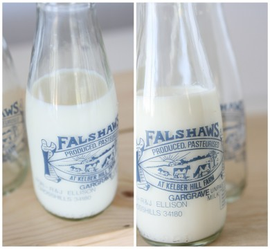Falshaws Glass Milk Bottle