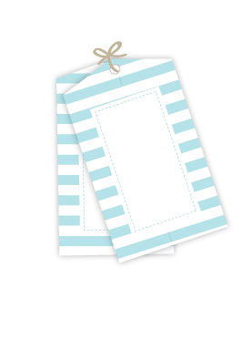 Sambellina Gift Tag Candy Stripe Blue
