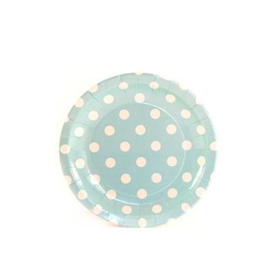 Sambellina Plates – Cake Plate – Blue with White