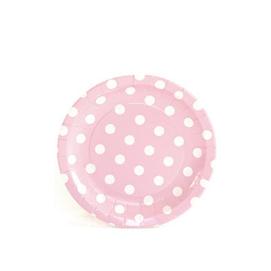 Sambellina Plates – Cake Plate – Pink with White