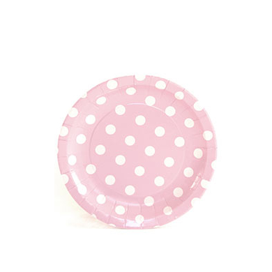 Sambellina Plates &#8211; Cake Plate &#8211; Pink with White