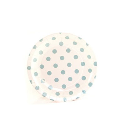 Sambellina Plates – Cake Plate – White with Blue