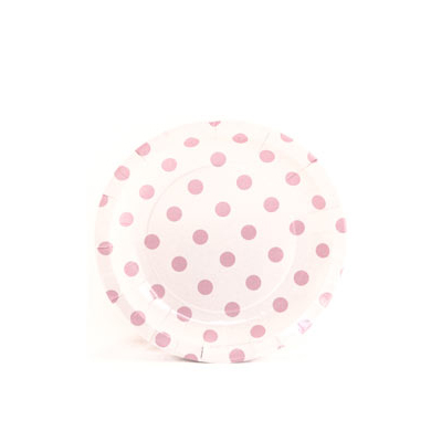 Sambellina Plates &#8211; Cake Plate &#8211; White with Pink