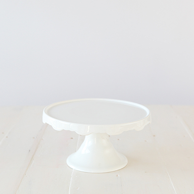 Whiteware Skirted Pedestal Cake Stand &#8211; Medium