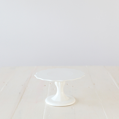 Whiteware Pedestal Cake Stand &#8211; Small