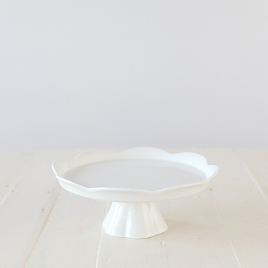 Whiteware Pedestal Cake Stand – Large