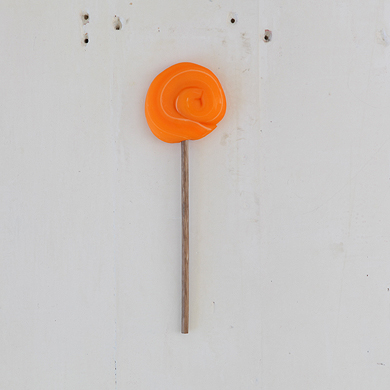Plain Round Lollipop &#8211; Orange