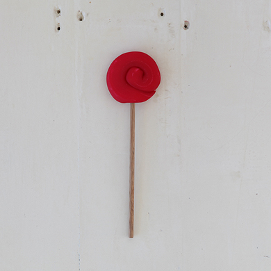 Plain Round Lollipop &#8211; Red