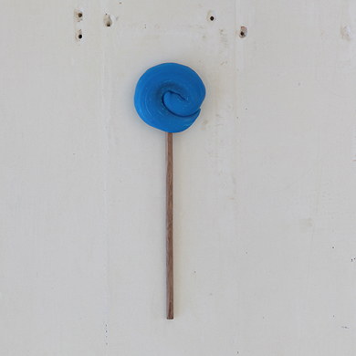 Plain Round Lollipop &#8211; Blue