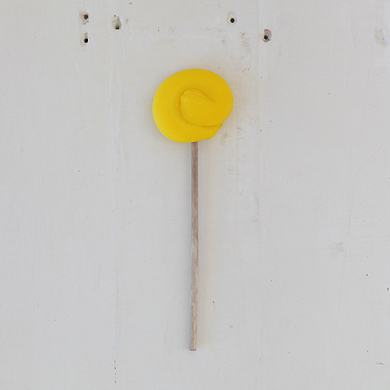 Plain Round Lollipop &#8211; Yellow