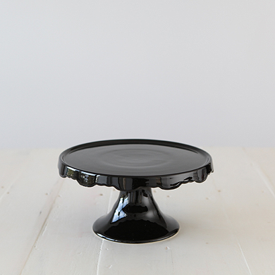Rocco Noir Medium Skirted Cake Stand