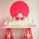 Fluro and White Dessert Table for Eskimo Design