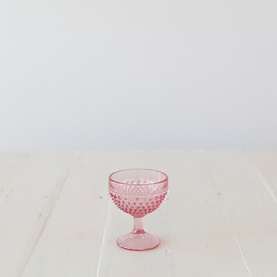 Hobnail Cup – Pink Glass