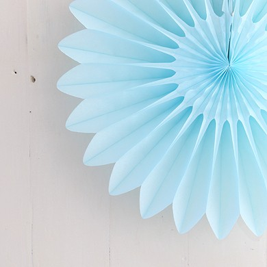 Honeycomb Paper Fan – Light Blue – Large