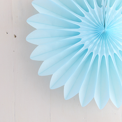 Honeycomb Paper Fan – Light Blue – Small