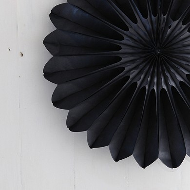 Honeycomb Paper Fan – Black – Large