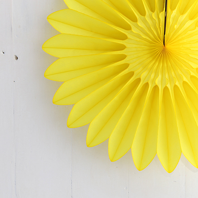 Honeycomb Paper Fan – Yellow – Small