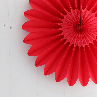 Honeycomb Paper Fan – Red – Large