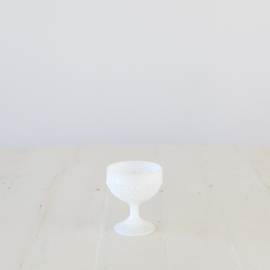 Hobnail Cup &#8211; Milk Glass White